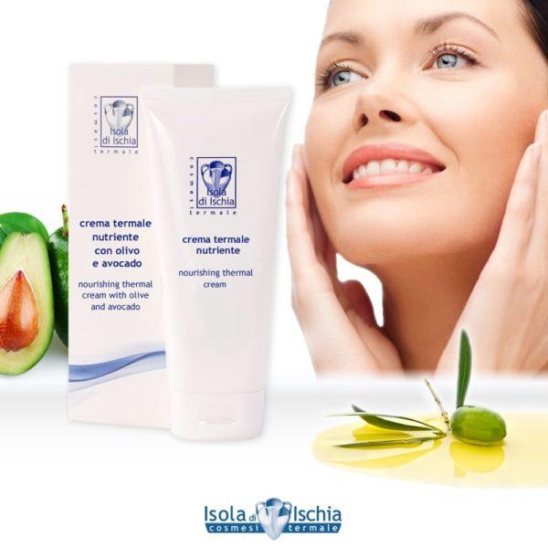 crema viso termale nutriente indicata per pelle secca