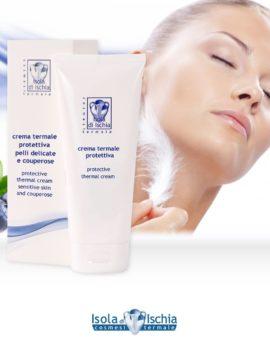 crema viso termale protettiva per pelle delicata