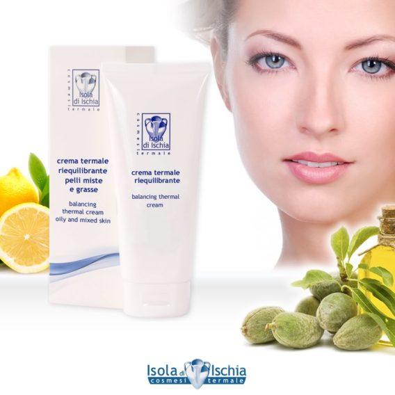 crema termale viso riequilibrante per pelle mista e pelle grassa